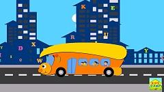 The Wheels on the Bus Go Round and Round (Nursery Rhyme) - KidsCamp