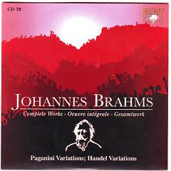 Johannes Brahms Edition: Complete Works (CD28)