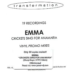 Crickets Sing For Anamaria (Remixes Pack) - Emma Bunton