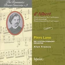 The Romantic Piano Concerto, Vol. 09 – d'Albert - Piers Lane,BBC Scottish Symphony Orchestra,Alun Francis