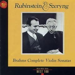RCA Best 100 CD 54 Brahms The Complete Violin Sonatas - Henryk Szeryng,Anton Rubinstein