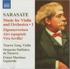 Sarasate Music For Violin And Piano Vol. 1  - Tianwa Yang,Orquesta Sinfonica de Navarra