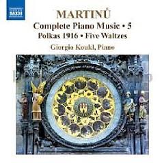 Bohuslav Martinu Complete Piano Music CD 5 - Giorgio Koukl