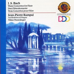 Bach - Three Concertos For Flute; Sinfonia - Jean-Pierre Rampal
