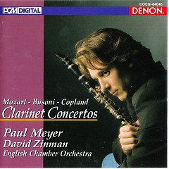 Mozart Busoni Copland Clarinet Concertos  - Paul Meyer,English Chamber Orchestra