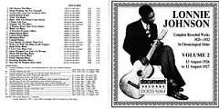 Complete Recorded Works 1925 ~ 1932 Vol.2 (CD2) - Lonnie Johnson