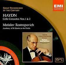 Haydn - Cello Concertos 1 & 2 - Mstislav  Rostropovich,Iona Brown,Academy Of St Martin InThe Fields