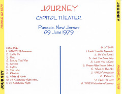 Capitol Theater Passaic NJ CD2 - Journey