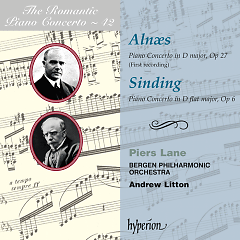 The Romantic Piano Concerto, Vol. 42 – Aln(ae)s & Sinding - Piers Lane,Andrew Litton,Bergen Philharmonic Orchestra