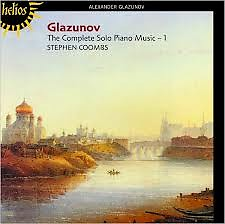 Glazunov The Complete Solo Piano Music CD 1