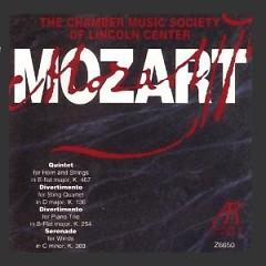 Mozart - Quintet K. 407,  Divertimento K. 136, Divertimento K.254,  Serenade K. 388