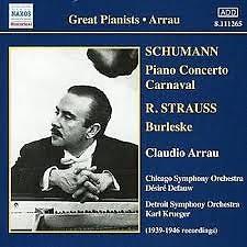 Schumann - Piano Concerto Carnaval (No. 2) - Claudio Arrau,Chicago Symphony Orchestra,Detroit Symphony Orchestra