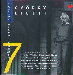 Gyorgy Ligeti Edition, Vol. 7 - Chamber Music Trio For Violin, Horn & Piano (No. 1) - Pierre-Laurent Aimard,Tabea Zimmerman