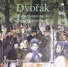 Dvorák - Piano Quintet; String Quintet - Hartmut Rohde,Leipziger Streichquartett,Christian Zacharias