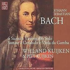 Bach - 6 Suites à Violoncello Solo; Sonate à Cembalo è Viola Da Gamba CD 1 (No. 1) - Piet Kuijken,Wieland Kuijken