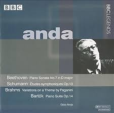 Geza Anda Plays Beethoven;  Schumann; Brahms; Bartók - Géza Anda