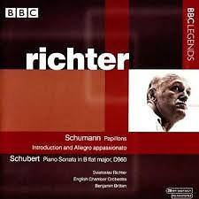 Schumann - Papillons; Schubert - Piano Sonata In B Flat Major, D960  - Sviatoslav Richter,Benjamin Britten,English Chamber Orchestra