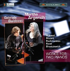 Works For Two Pianos  - Martha Argerich,Gabriele Baldocci