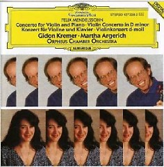 Mendelssohn - Concerto For Violin And Piano & Violin Concerto - Martha Argerich,Gidon Kremer,Orpheus Chamber Orchestra