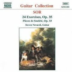 Sor - 24 Exercises, Op. 35; Pièces De Société, Op. 33 (No. 1)