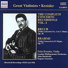 Bruch, Brahms - Violin concertos - Fritz Kreisler
